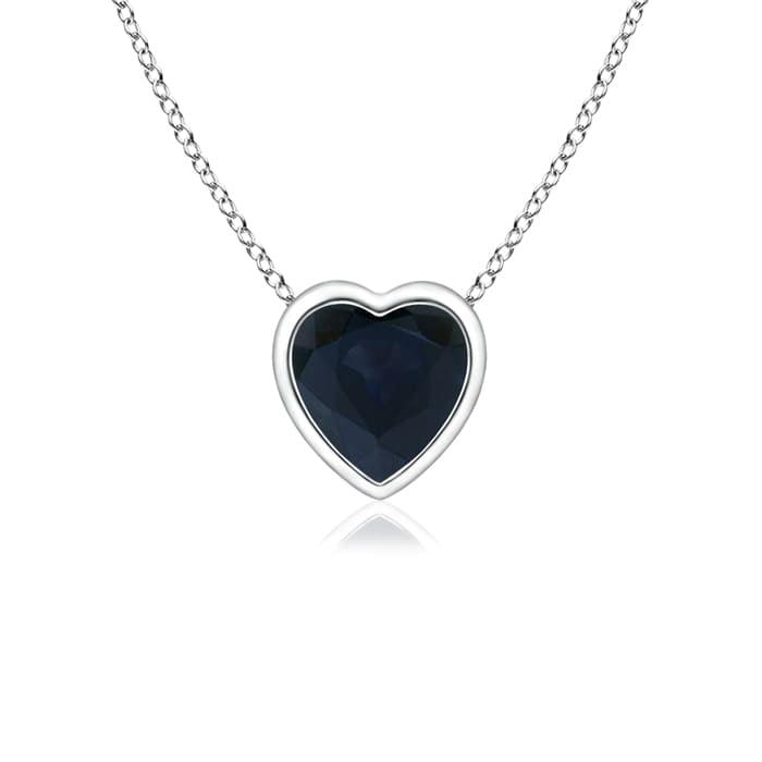Angara Sapphire Bezel-Set Pendant in Platinum TRnfK7q