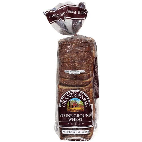 Grant's Farm: Stone Ground Wheat Bread, 20 Oz