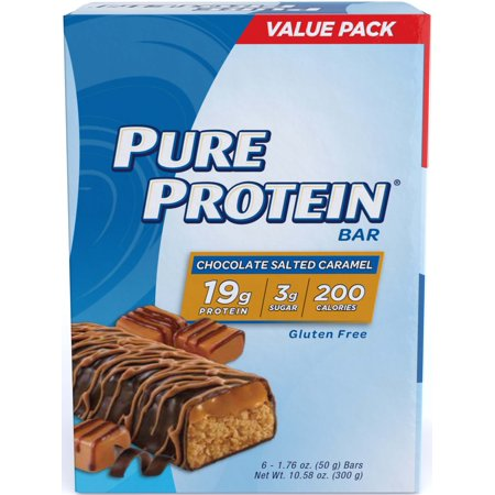 Pure Protein Bar, Chocolate Salted Caramel, 19g Protein, 6