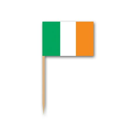 Irish Flag Cupcake Food Dessert Picks St Patrick's Day Party 50pc Green White - Halloween Cupcake Flags
