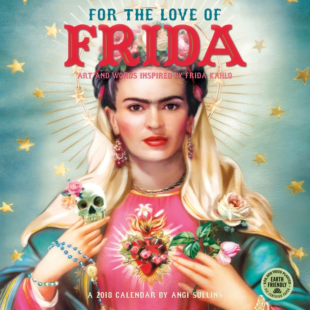 2018 For the Love of Frida Wall Calendar,  Ethnic Art by Amber Lotus