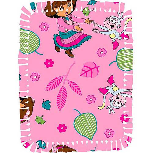 Creative Cuts Microfiber No Sew Throw Kit, Nickelodeon Dora Fall Fun, Pink