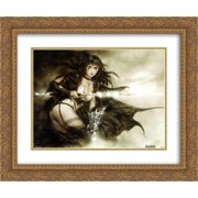Gothic 2x Matted 24x20 Gold Ornate Framed Art Print by Luis Royo
