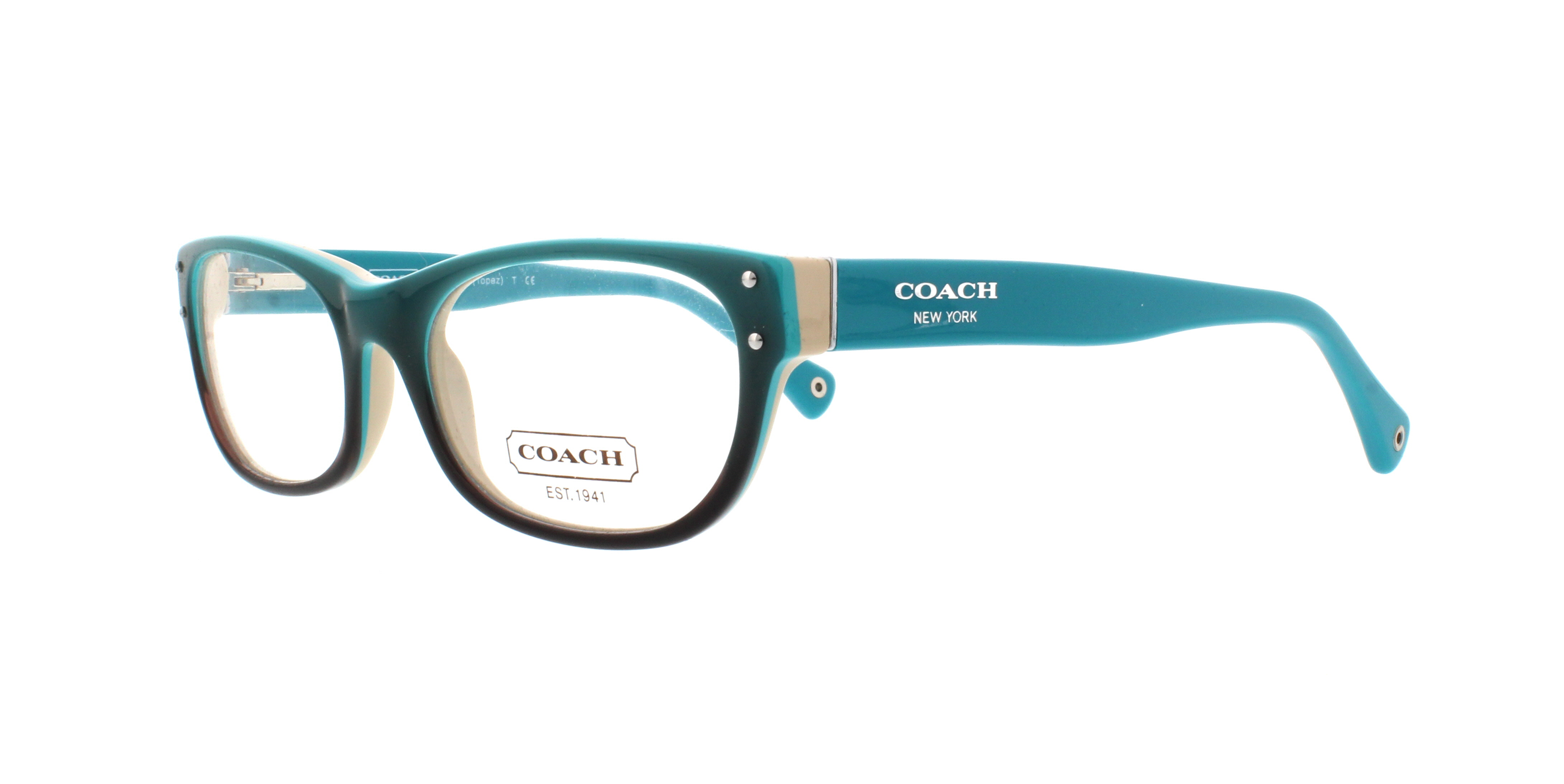 0906d54784 COACH Eyeglasses HC 6034 5099 Turquoise 52MM