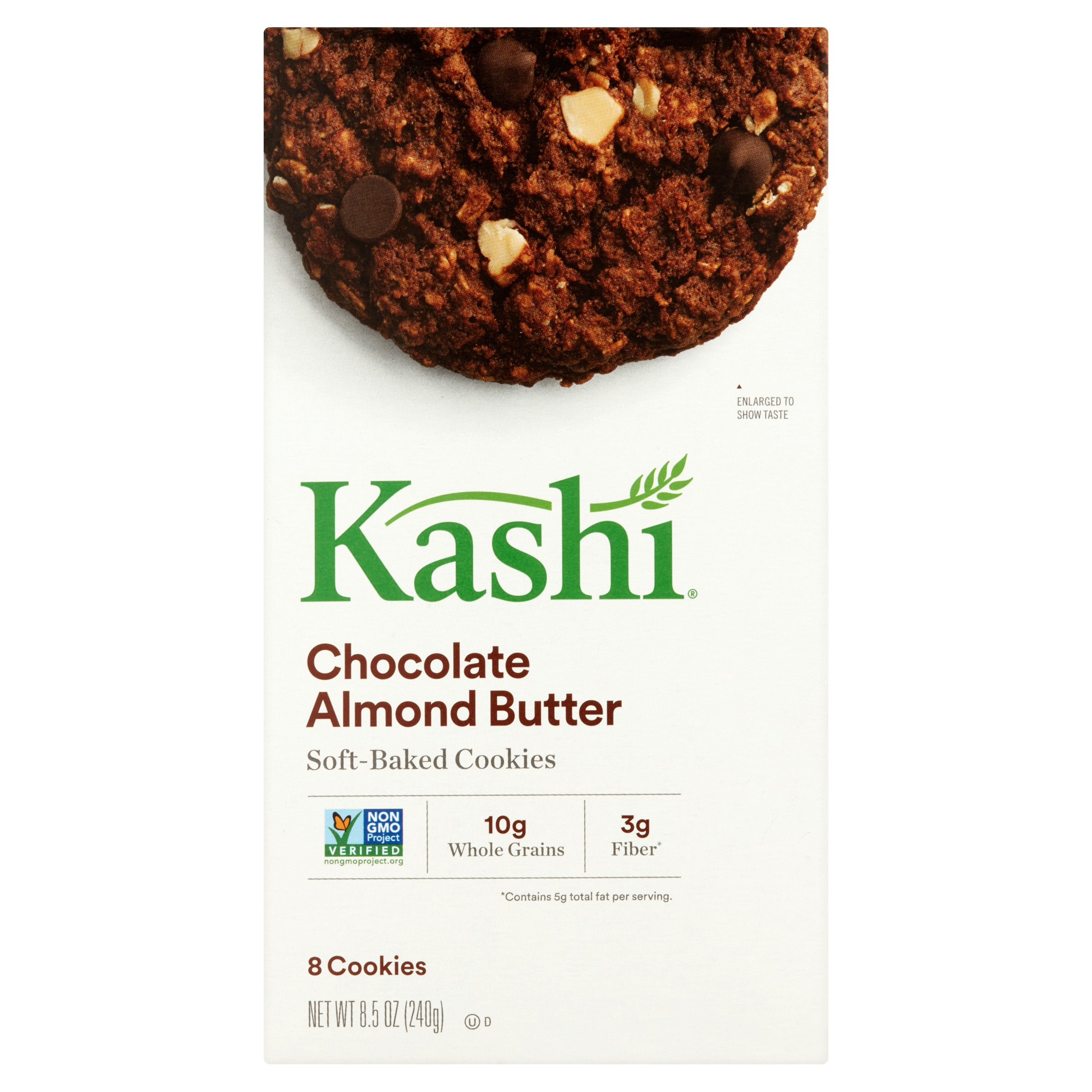 Kashi Chocolate Almond Butter Soft-Baked Cookies, 8.5 oz, 8 count, 6 pack