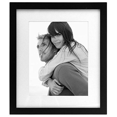 8x10 Matted 11x13 Linear Wall Black Picture Frame Set Of 2