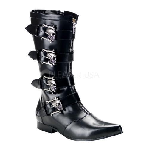 BRO107 B NPU Demonia Vegan Boots Unisex BLACK Size: 10 by