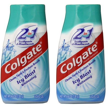 Colgate 2 in 1 Toothpaste & Mouthwash Whitening Icy Blast - 4.6 oz (2