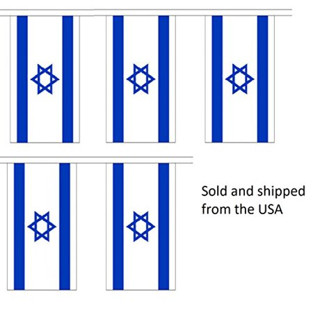 Party Flag Banners (10' Israel String Flag Party Bunting Has 10 Israeli 6