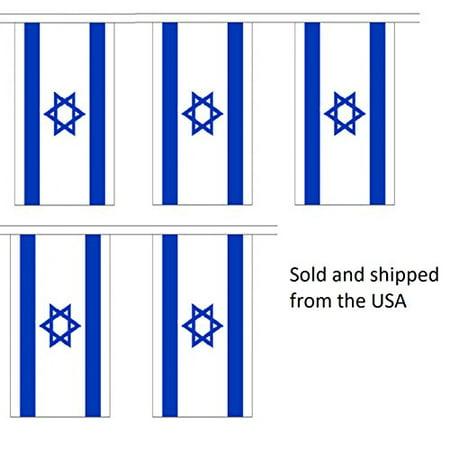10' Israel String Flag Party Bunting Has 10 Israeli 6