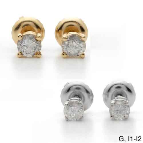 Auriya 18k Gold 1 1/2ct TDW Clarity-enhanced Diamond Stud Earrings G, I1-I2 - White Gold