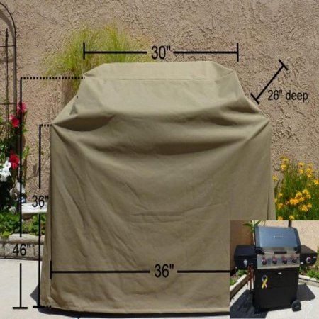 Formosa Covers BBQ Grill cover fits up to 36 inches gas grill on cart 36' Grill Top Cover