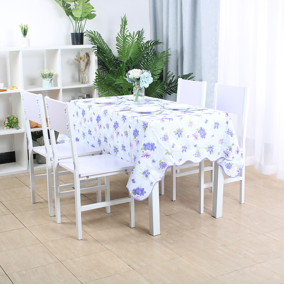 """Tablecloth PVC Oil Stain Resistant Wedding Camping Table Cloths 54"""" x 72"""",#9 - image 7 de 7"""