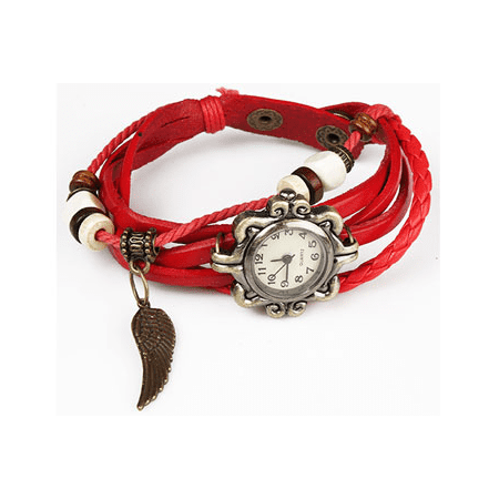 Handmade Leather Angel Wing Womens Watch ()