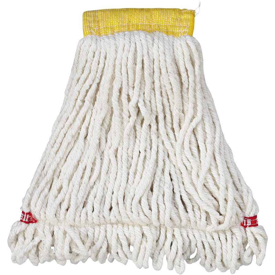 Rubbermaid Commercial Web Foot Wet Mop Head, Shrinkless, Cotton/Synthetic, White, Small, 6/Carton