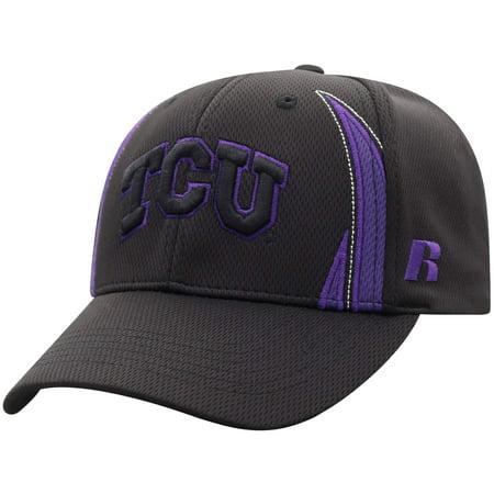 Men's Russell Black TCU Horned Frogs React Adjustable Hat - OSFA