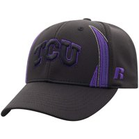 bc7e6707c6381 Product Image Men s Russell Black TCU Horned Frogs React Adjustable Hat -  OSFA