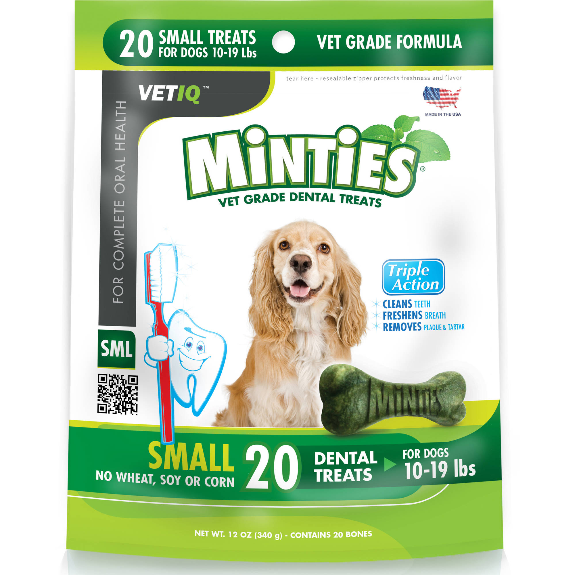 Minties from VetIQ Small Dog Dental Treats, 12 oz