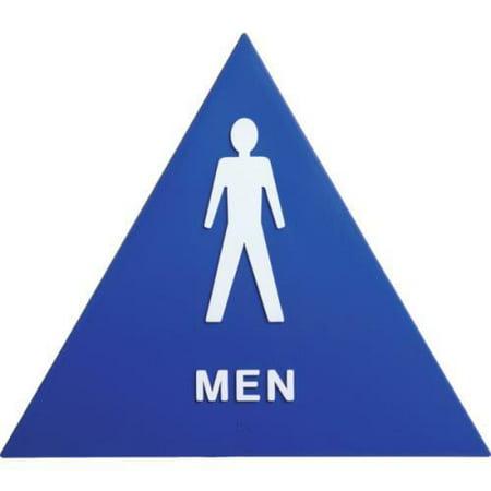 Plastic Triangle Men Restroom Sign
