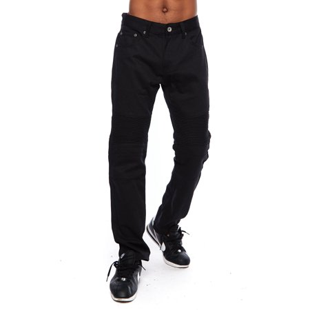 Red Gelscrubs Pant - Mens Knee And Waist Stitch Fashion Casual Biker Straight Pants D1319-30/30-Black