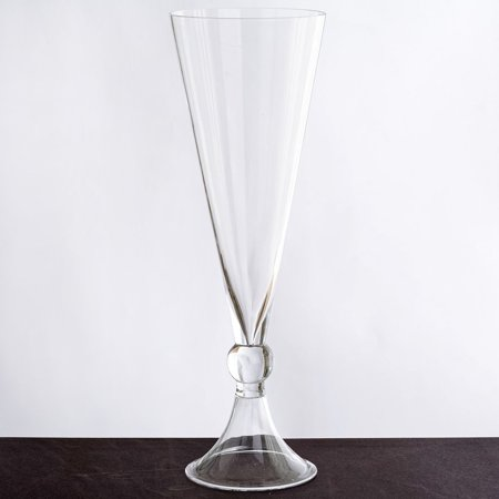 "BalsaCircle Clear 4 pcs 16"" tall Glass Trumpet Vases Wedding Party Centerpieces - Flowers Home Decorations Cheap Bulk Supplies"