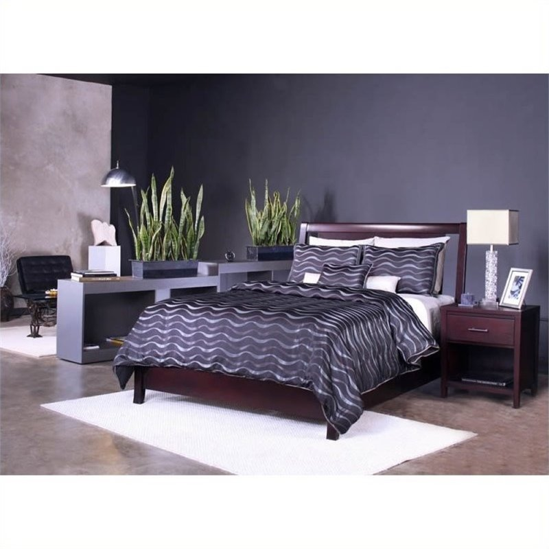 Bowery Hill Twin Low Profile Storage Bed in Espresso