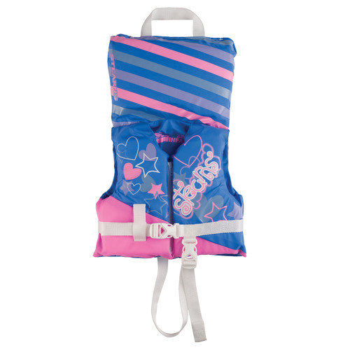 Stearns PFD 5971 Infant Antimicrobial Girl Life Jacket in Blue and Pink