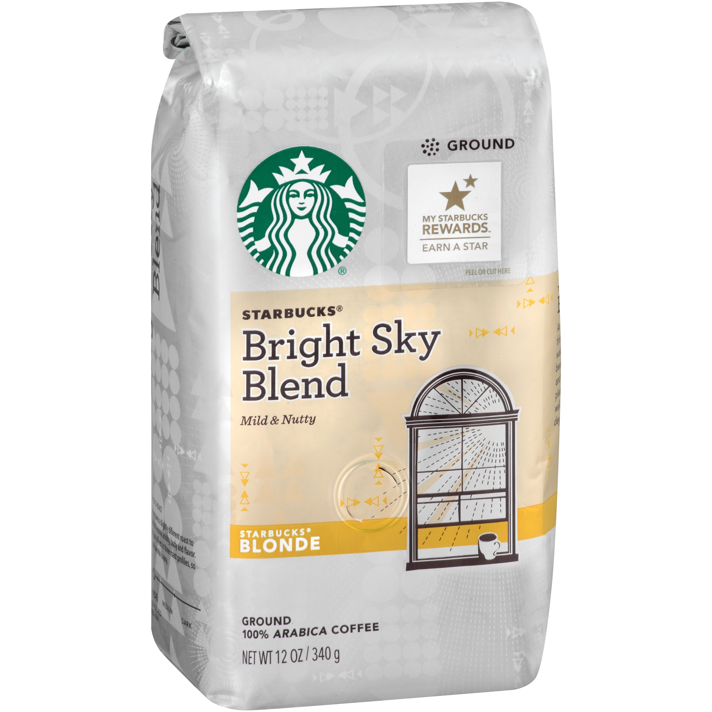 Starbucks Bright Sky Blend Blonde Roast Ground Coffee 12 oz. Bag by STARBUCKS COFFEE COMPANY