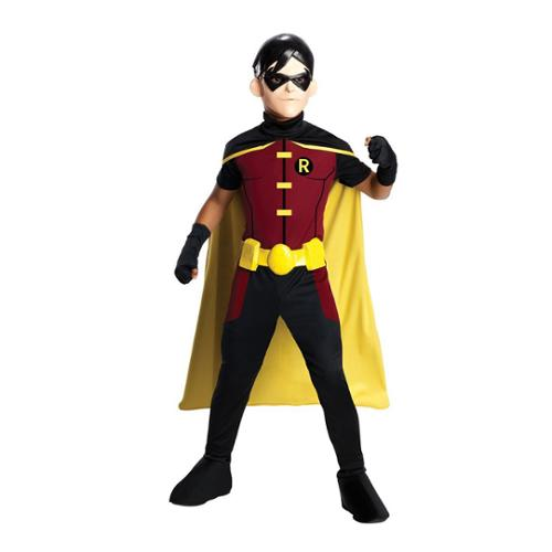 Kids Young Justice Robin Costume Size Medium