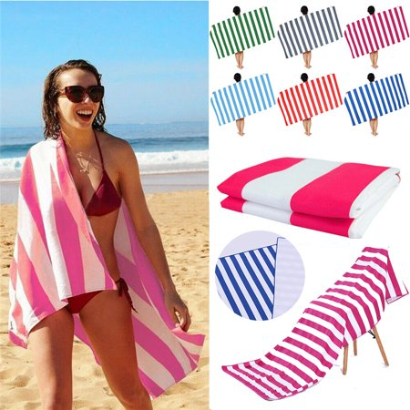 Striped  Oversized Large Microfiber Beach Towel Travel Bath Towels Lightweight Dark (Best Microfiber Beach Towel)