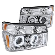 Spec-D Tuning For 2004-2012 Chevy Colorado Canyon Projector Head Lights + Corner Lights (Left+Right) 2004 2005 2006 2007 2008 2009 2010 2011 2012