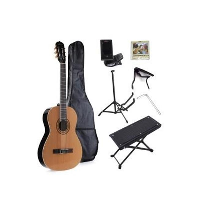 All Days Music JC612-GY 39 in. Nylon String Classical Guitar by All Days Music