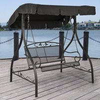 Deals on Mainstays Jefferson Wrought Iron 2-Person Canopy Swing