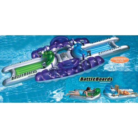 Water Sports 3-Piece Inflatable Battle Board Station Swimming Pool Squirter Set