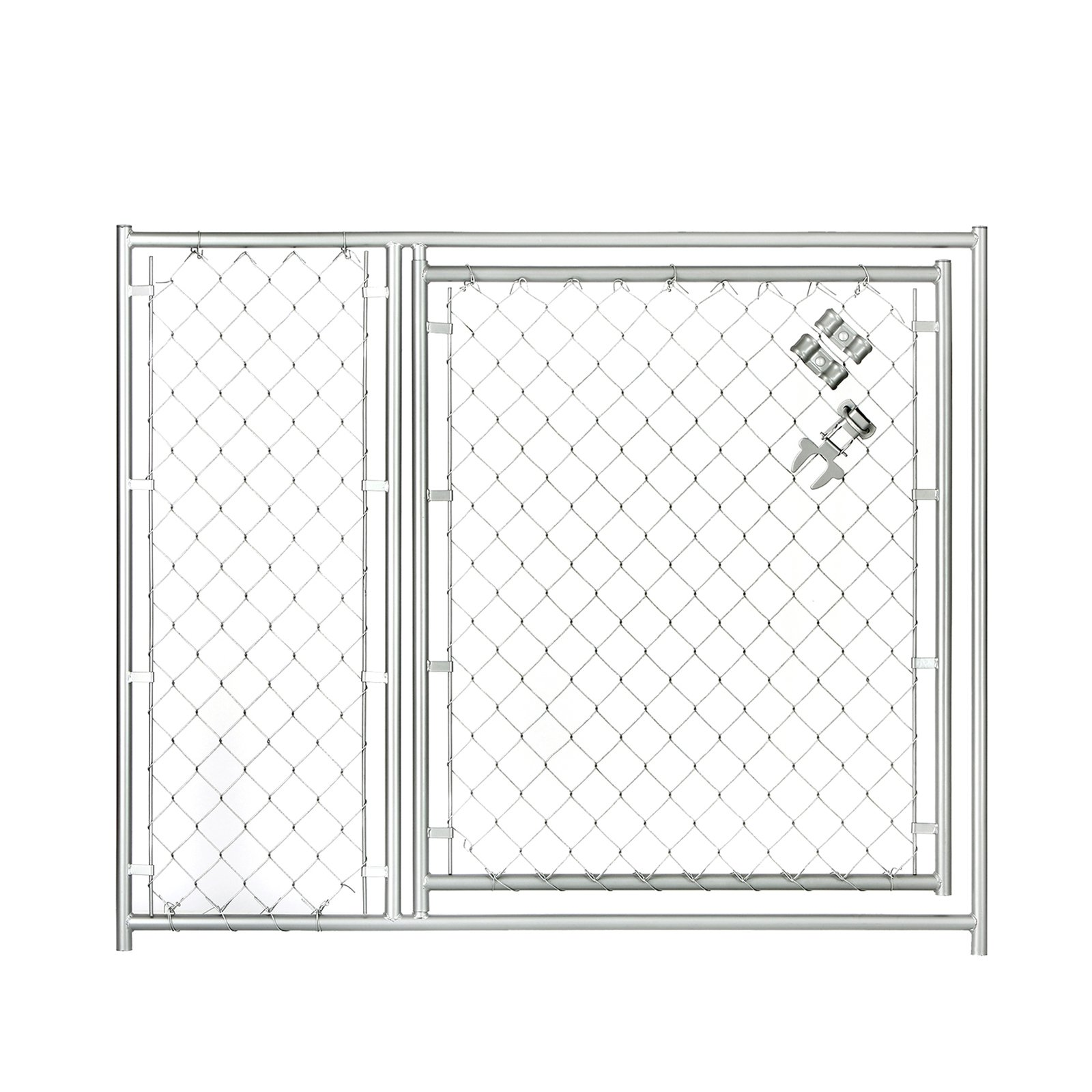 Lucky Dog 5W x 4H ft. Chain Link Modular Gate - 36 in. Op...