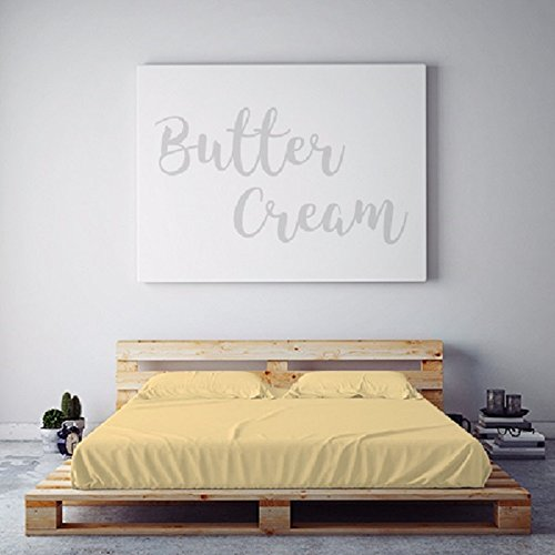 PeachSkinSheets Night Sweats: The Original Moisture Wicking, 1500tc Soft XL TWIN DORM Sheet Set BUTTERCREAM YELLOW