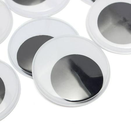 10Pcs 50mm Big Black wiggly wobbly giant googly eyes foy DIY Scrapbooking  ! - image 3 of 3