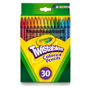 Crayola Twistables Colored Pencil Set, Gift Ages 3+ - 30 Count