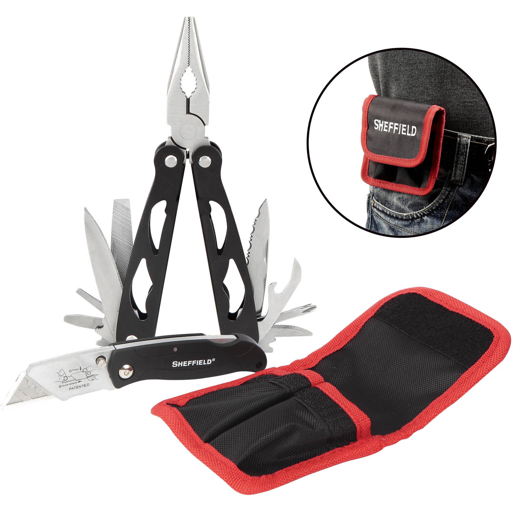 Sheffield 2-Piece Multi Tool and Lockback Knife Set