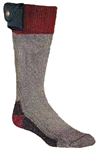 Nordic Gear Unisex Lectra Sox-Electric Battery Heated Socks Medium Maroon by Heated Socks