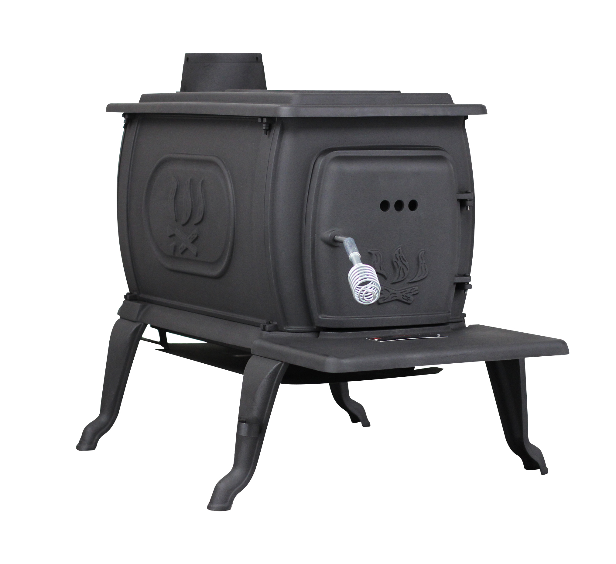 94,000 BTU EPA Certified Cast Iron Logwood Stove, Large