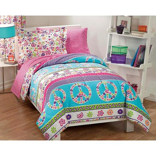 CHF Industries Peace and Love Polyester/Cotton Printed Twin Size 5-piece Bed in a Bag