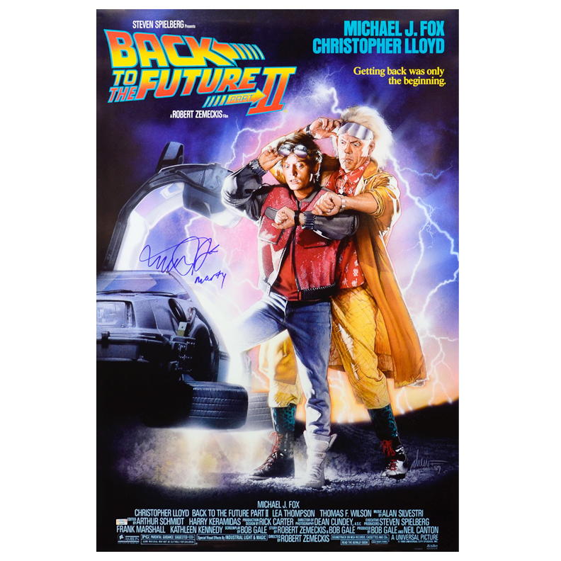 Michael J. Fox Autographed 27x40 Back to the Future Part II Poster