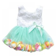 Toddler Baby Girls Princess Party Lace Bow Flower Cute Dresses Child Party Dance Clothes