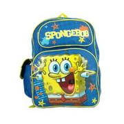 "Backpack - Spongebob - Blue 16"" School Bag New 618704"