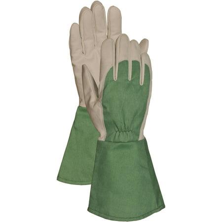 Flame Resistant Gloves - Bellingham Glove C7352M Medium Green Thorn Resistant Gauntlet Gloves