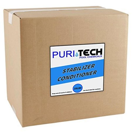 Pool Spa Pond (PuriTech Stabilizer Conditioner Cyanuric Acid UV Protection for Swimming Pools and Spas (25lbs))