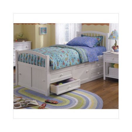 ne kids woodland white twin captains bed. Black Bedroom Furniture Sets. Home Design Ideas
