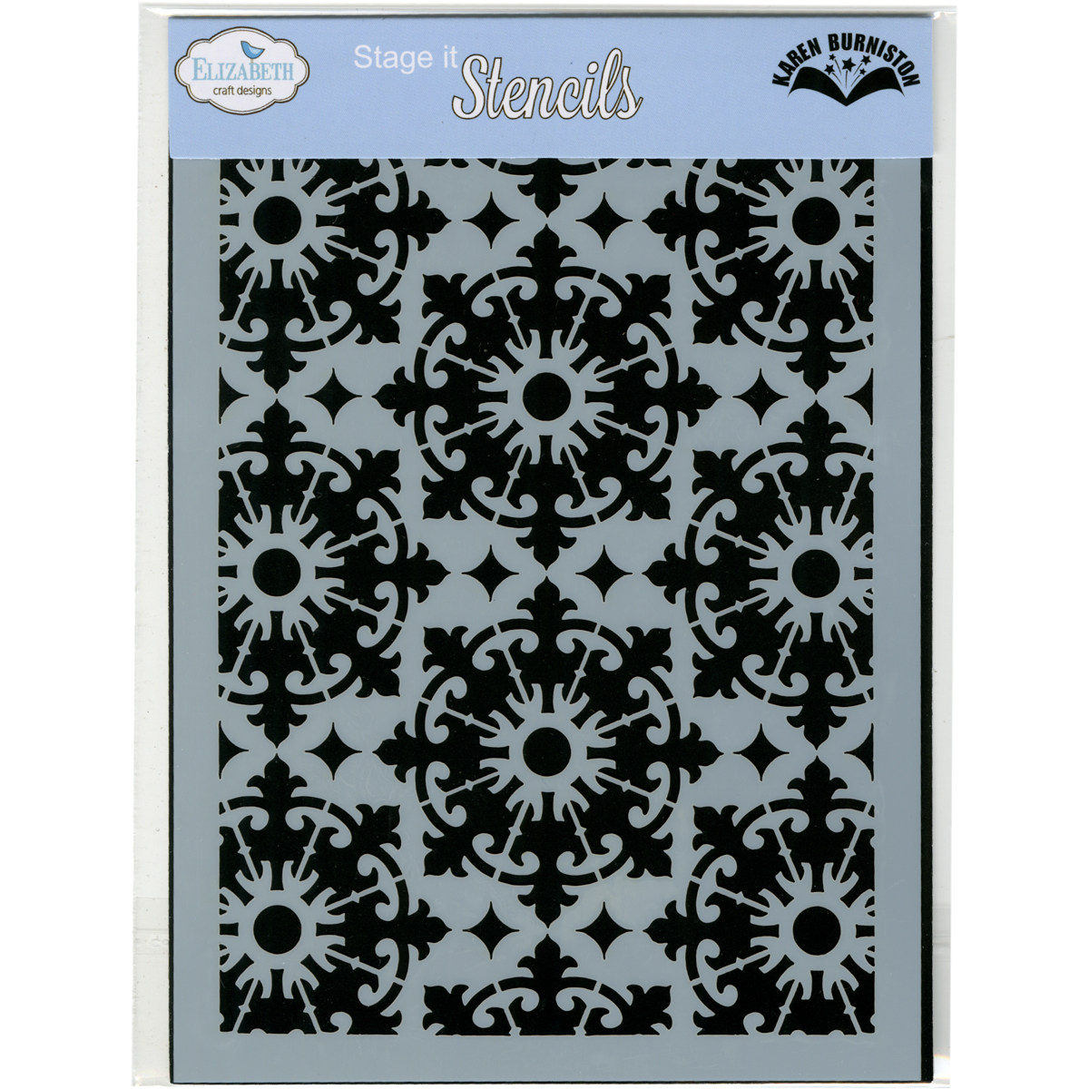 "Elizabeth Craft Designs Stencil 5""X7""-Medallion"