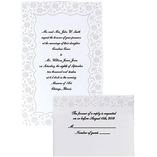 Wilton Wedding Invitation Kit, Flirty Fleur 50 ct. 1008-525